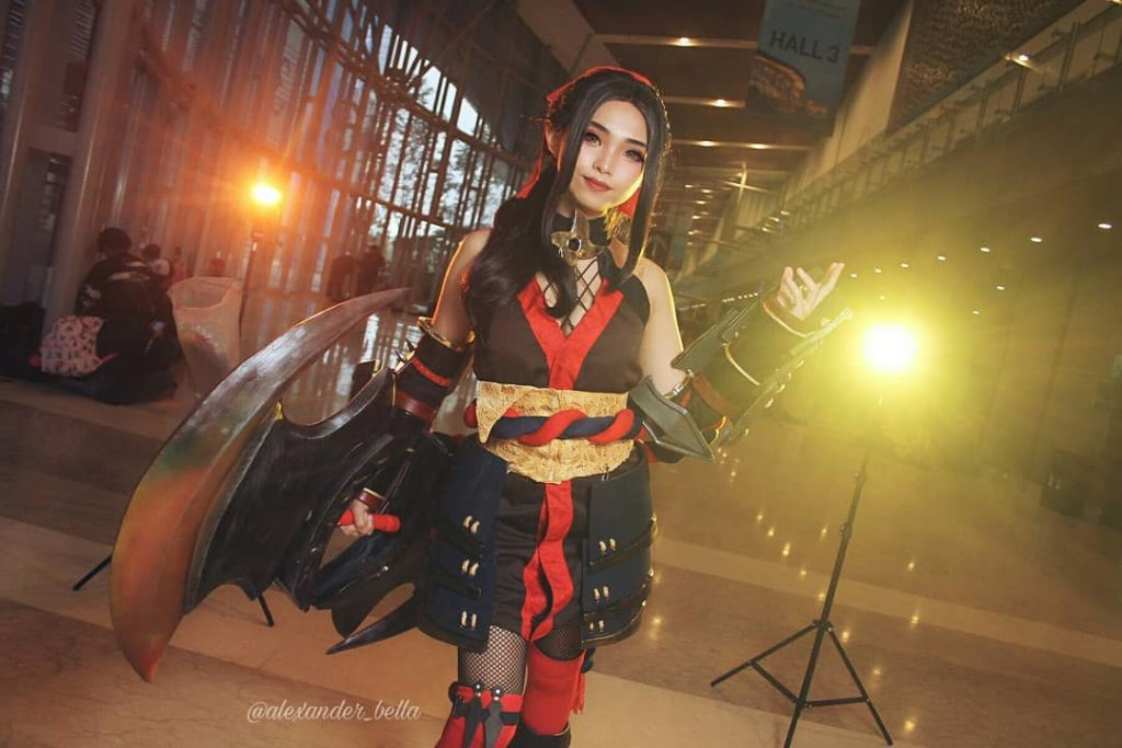 cosplay mobile legend paling cantik adalah hanabi