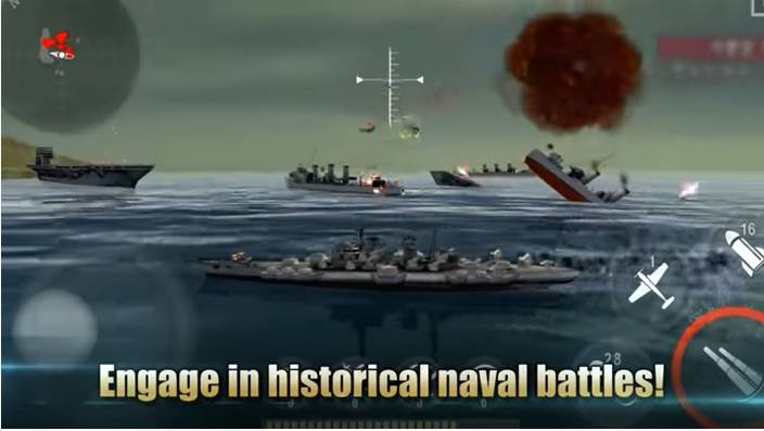 Game Android WARSHIP BATTLE: 3D World War II