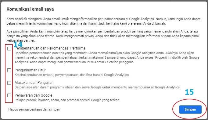 Komunikasi Email Saya, Langkah Pasang Google Analytics di Website