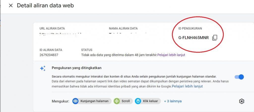 Google Analytics versi terbaru.